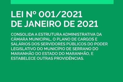 Lei 001/2021